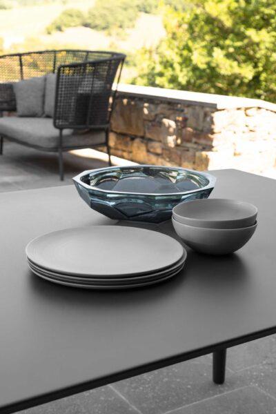 Moon//Alu Table à manger extensible 200/260 x 100 1