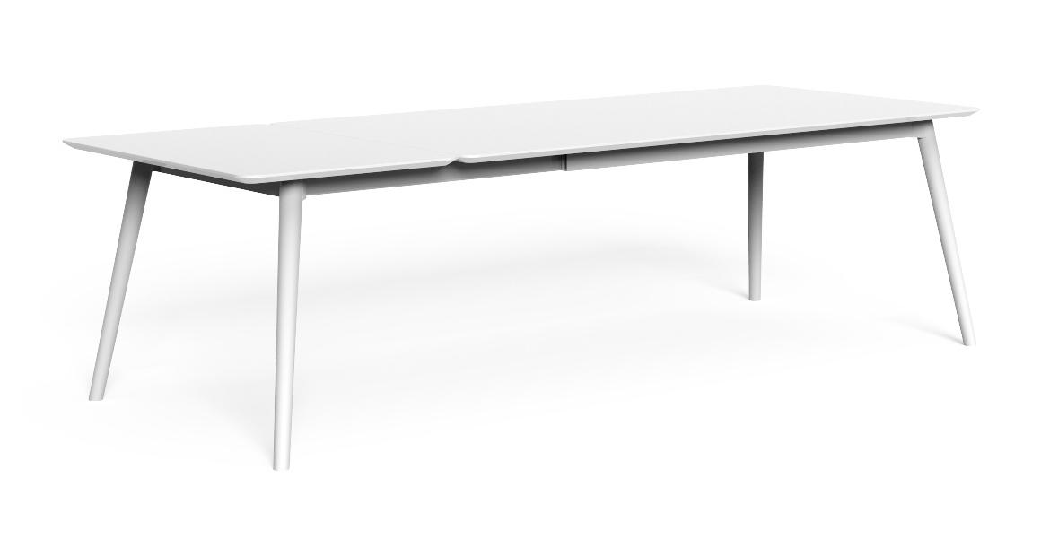 Moon//Alu Table à manger extensible 200/260 x 100